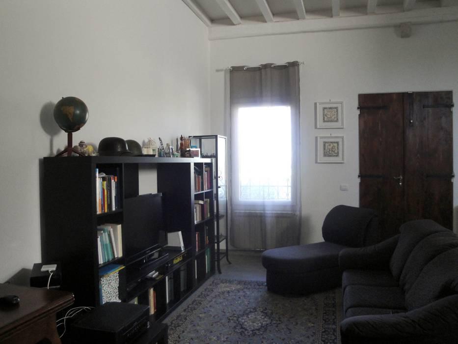 ristrutturazione casa m.g.: Soggiorno in stile in stile Moderno di Laura Mattiuzzo Architetto