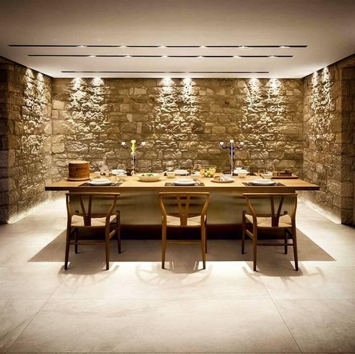 Plaza Yapı Malzemeleri – Beton Görününümlü Seramik:  tarz Yemek Odası