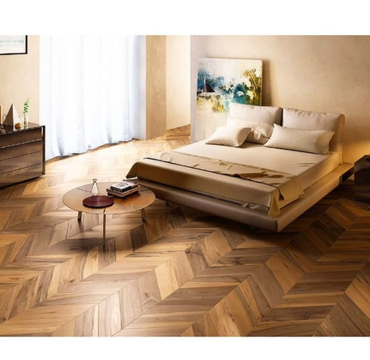 Ahşap Görünümlü İtalyan Seramikler Rustik Yatak Odası Plaza Yapı Malzemeleri Rustik