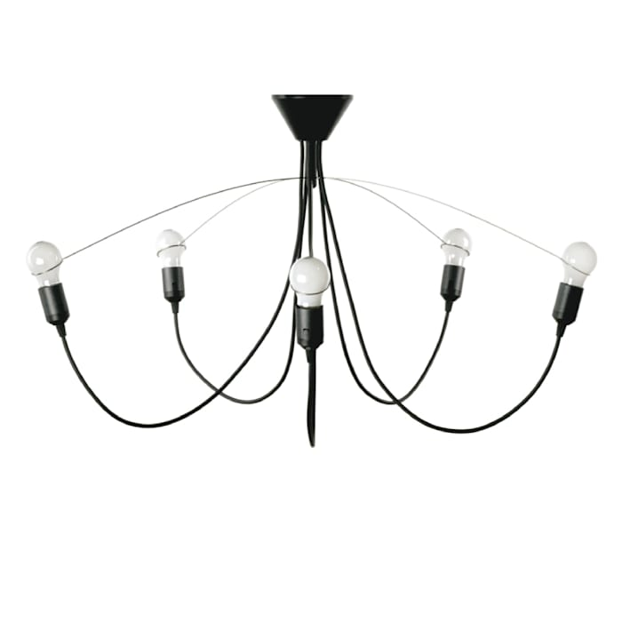 heavy guy chandelier black van MVOS Minimalistisch