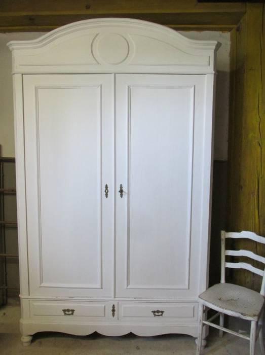 Brocante Witte Kast Antiek En Demontabel Woonkamer Door