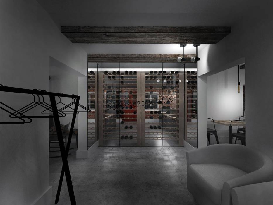 Winiarnia 157 m2 - mieszanka przeszłości i teraźniejszości. od HUK atelier Eklektyczny