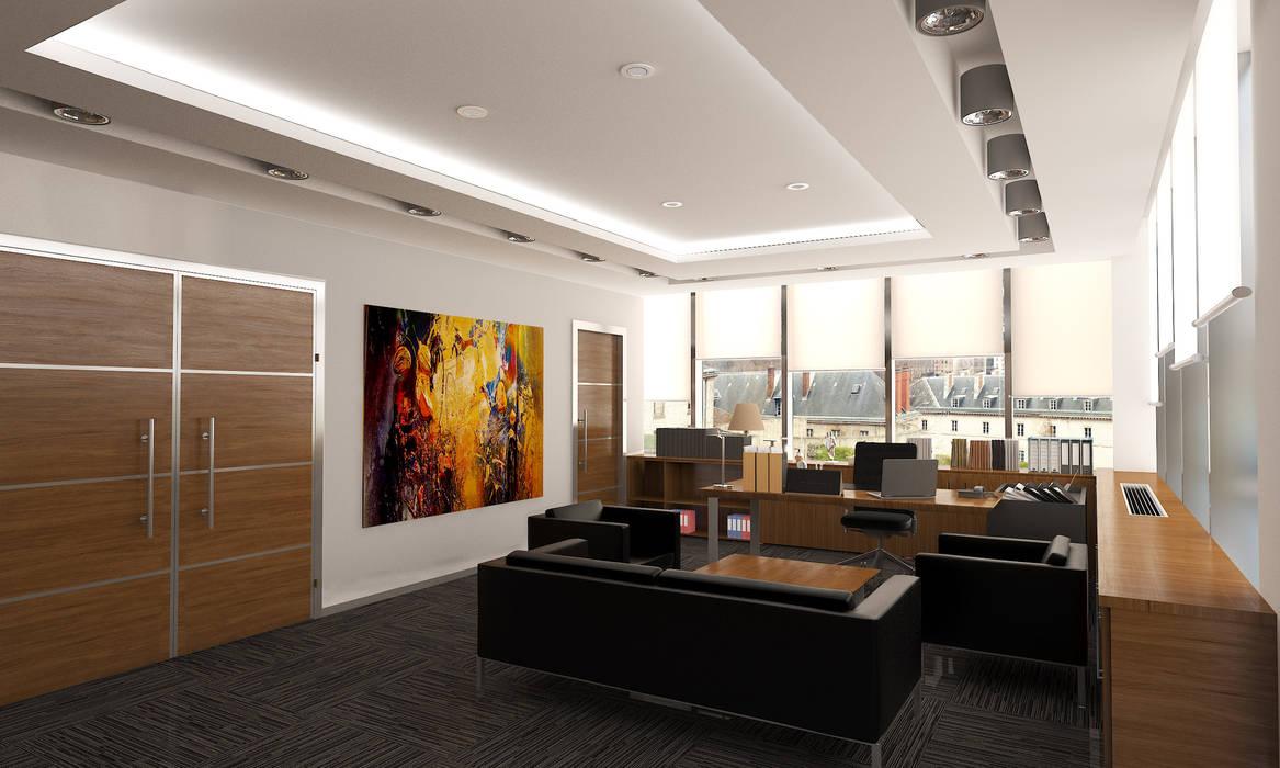 ML MIMARLIK VE DEKORASYON – KOSB YONETİM:  tarz Ofis Alanları, Modern