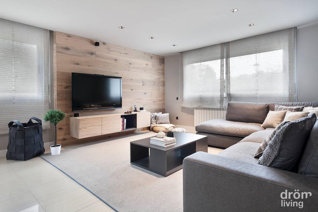 Phòng khách phong cách Bắc Âu bởi Dröm Living Bắc Âu