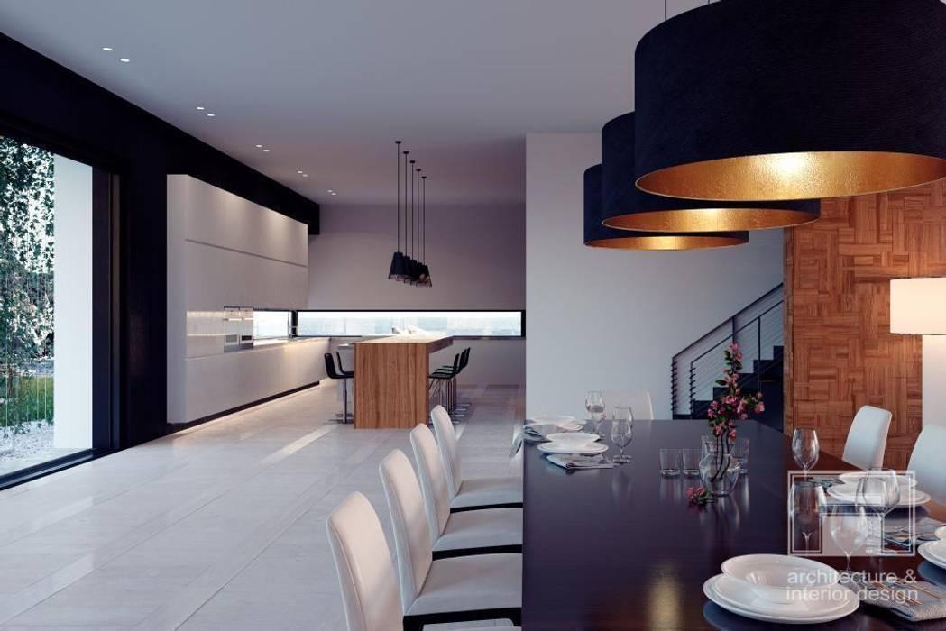 Море Вокруг. Архитектурное решение + Интерьер дома (1000м2) Кухня в стиле минимализм от i-project Минимализм