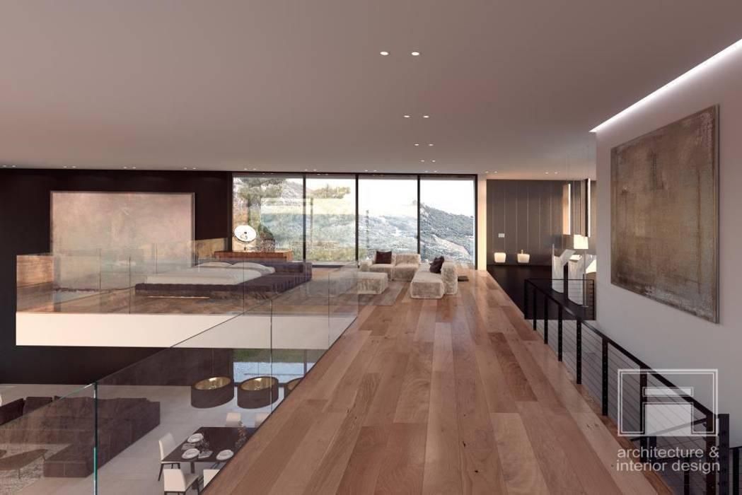 Море Вокруг. Архитектурное решение + Интерьер дома (1000м2) i-project Стены и пол в стиле минимализм