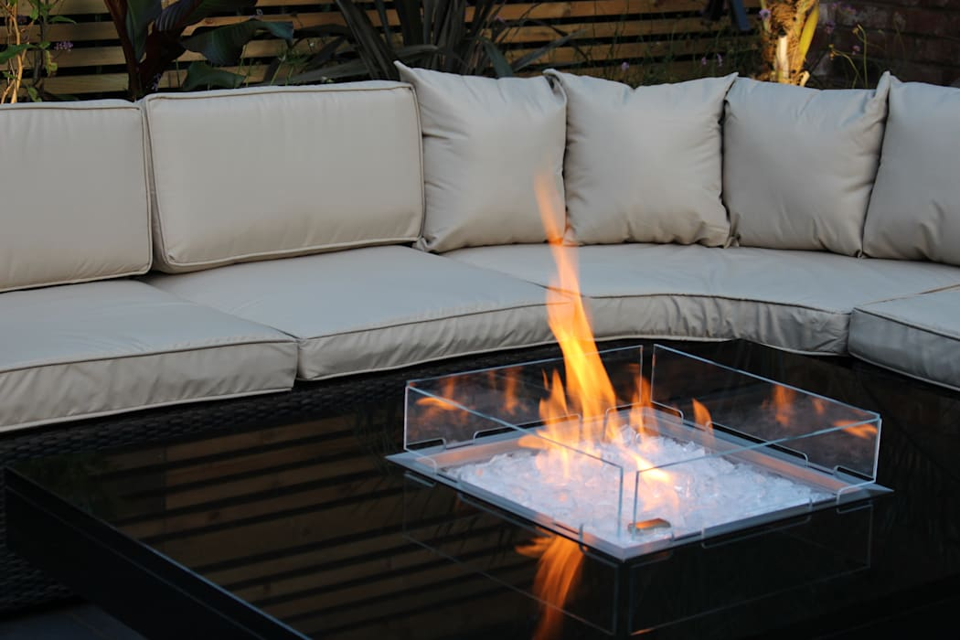 Madrid Gas Fire Table - Warrington par Rivelin Moderne
