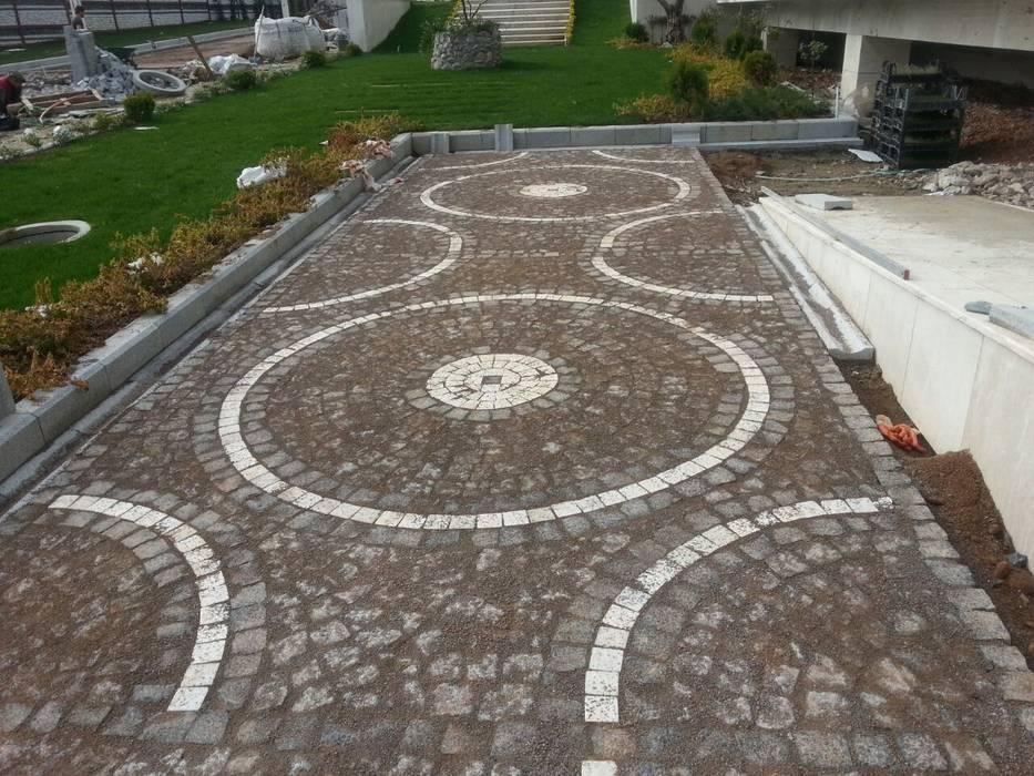 GRANİT BAZALT KÜP TAŞ UYGULAMASI Modern Bahçe MERCAN DOGALTAS Modern