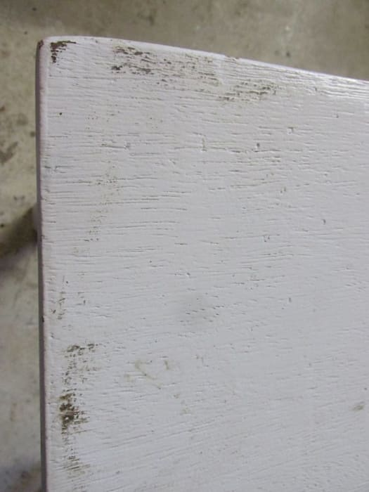 Brocante Eetkamer Tafel.Smalle Brocante Witte Tafel Met 4 Lades Rustieke Brocante