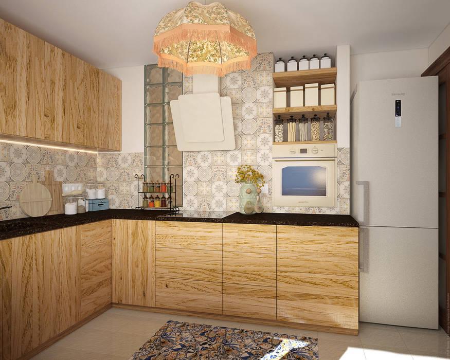 Экоквартира в Тропарево Кухни в эклектичном стиле от «Студия 3.14» Эклектичный