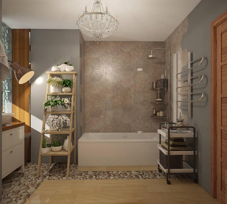 Экоквартира в Тропарево Ванная комната в эклектичном стиле от «Студия 3.14» Эклектичный