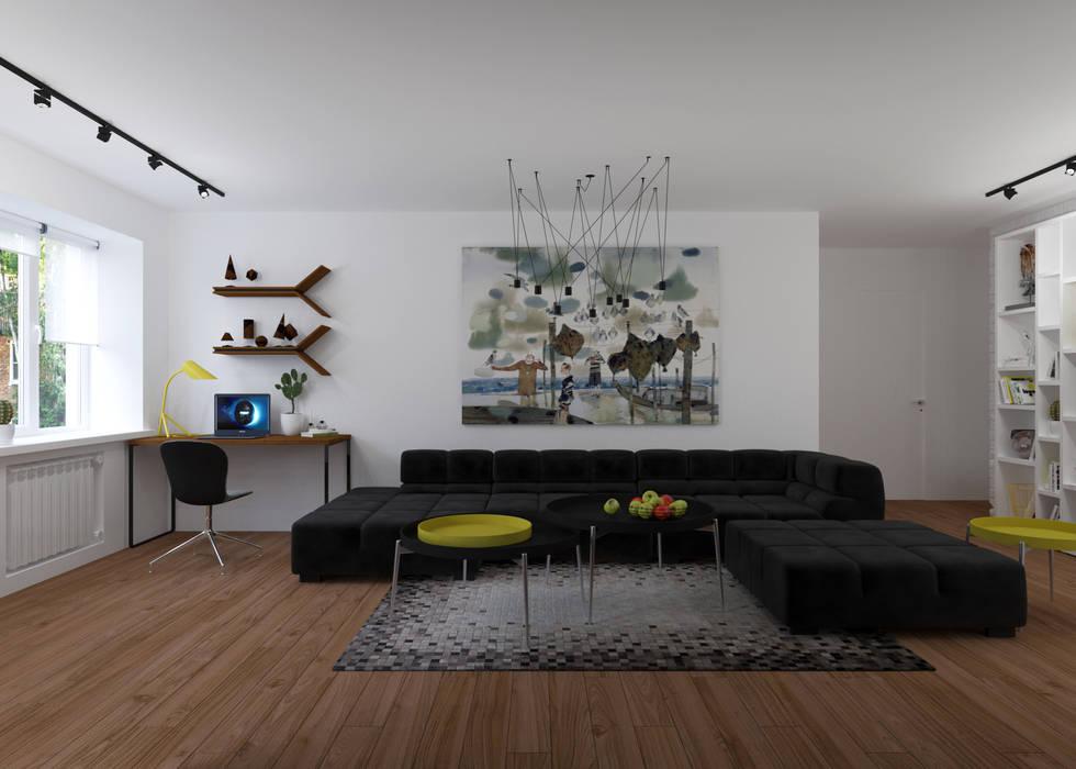 Гостиная Гостиная в стиле минимализм от 3D GROUP Минимализм