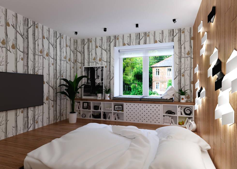 Спальня: Спальни в . Автор – 3D GROUP, Минимализм