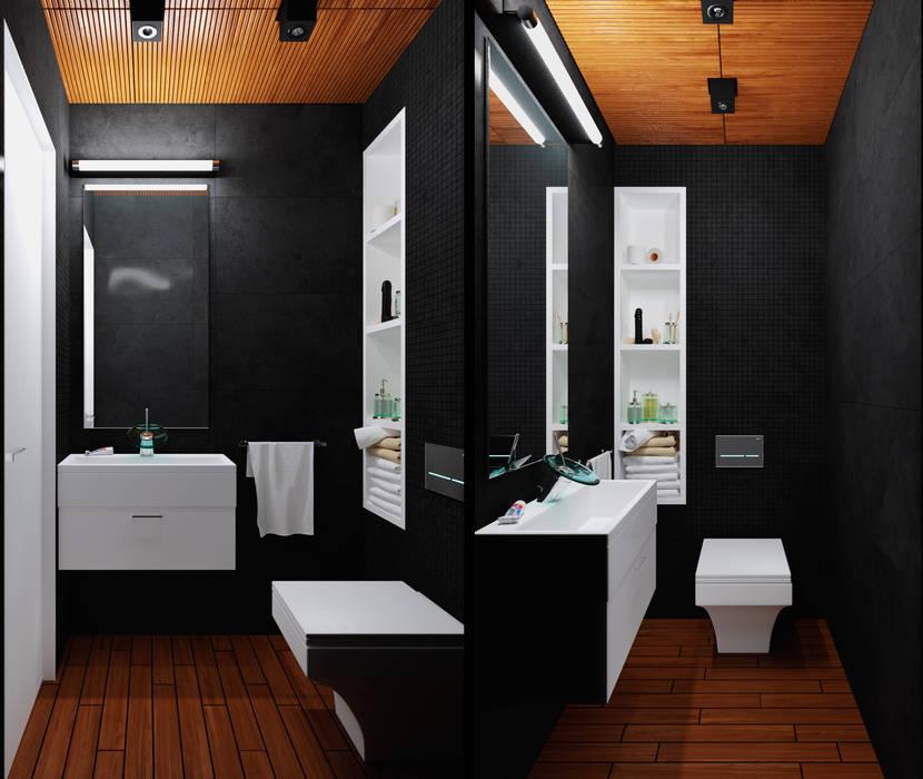 Туалет Ванная комната в стиле минимализм от 3D GROUP Минимализм