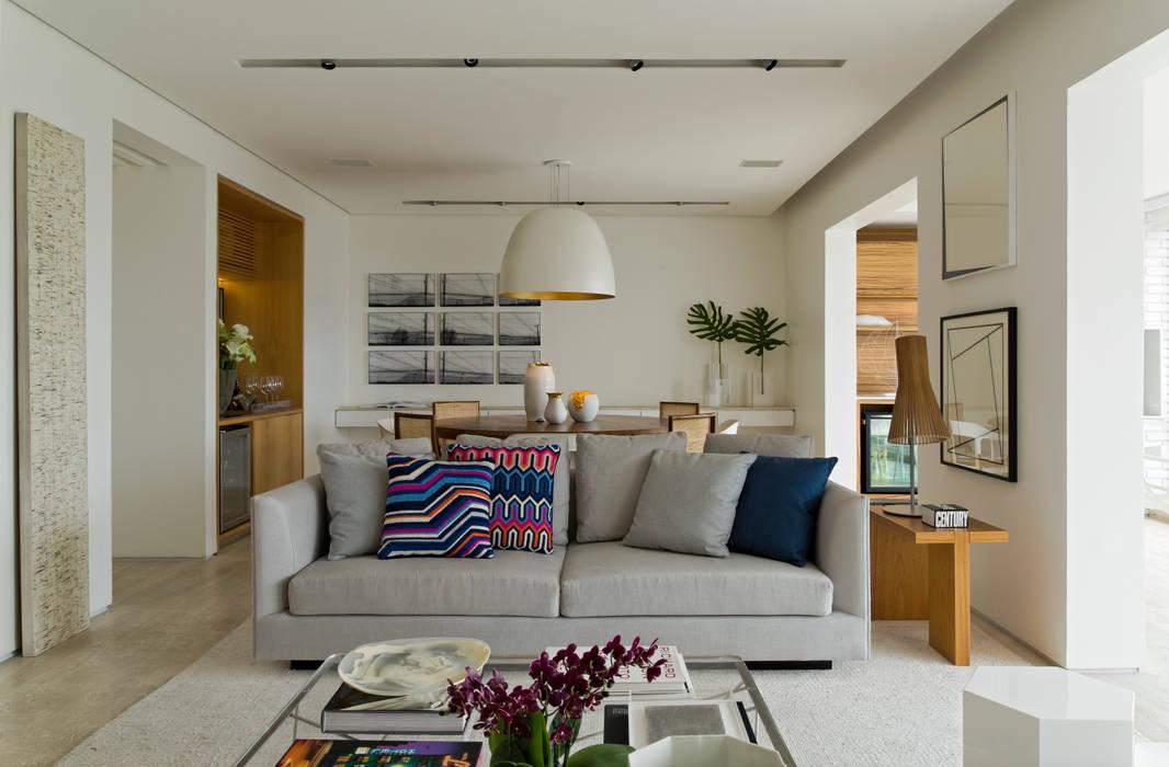 Pabamby Apartment Salas de estar modernas por DIEGO REVOLLO ARQUITETURA S/S LTDA. Moderno