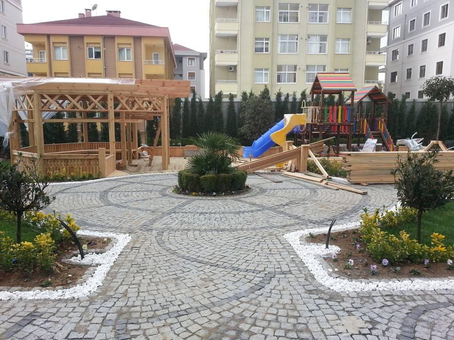 KOZAK GRANİT – GRANİT KÜP TAŞ UYGULAMASI:  tarz Bahçe