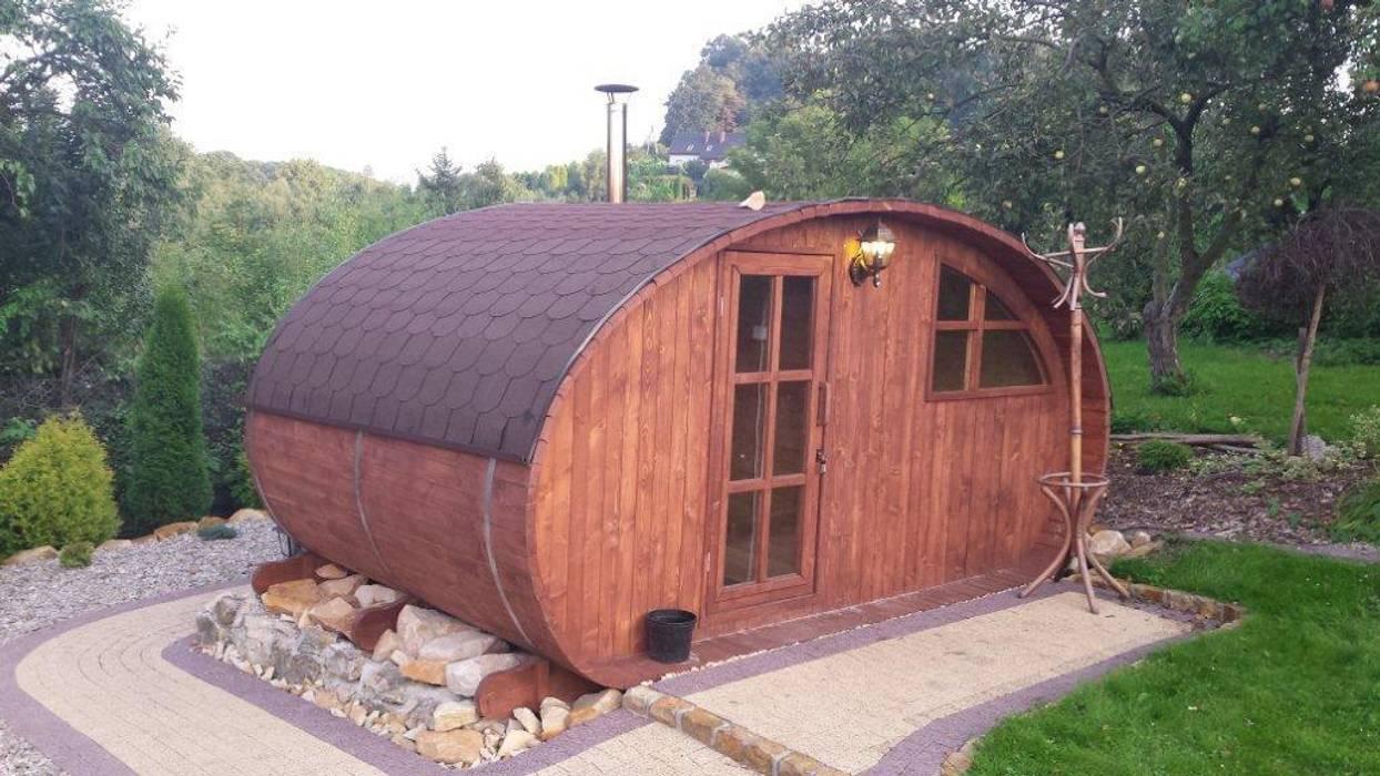 Sauna ogrodowa Skandynawski ogród od Lifepolska Iwona Olejnik Skandynawski
