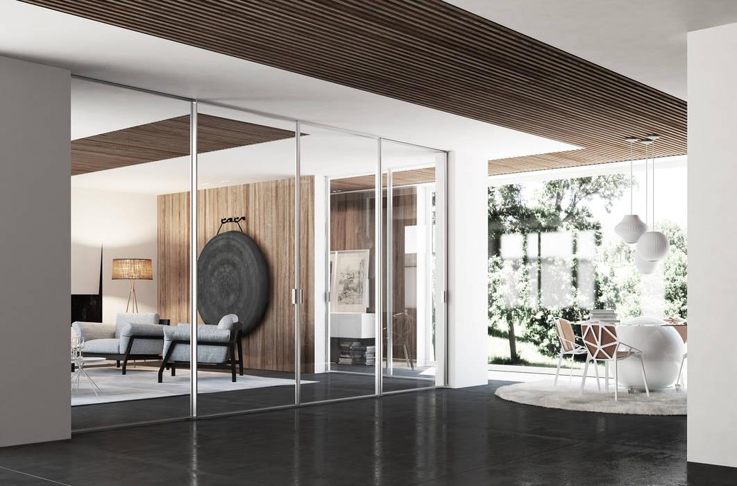 Porta scorrevole easy-S Finestre & Porte in stile moderno di Staino&Staino Moderno