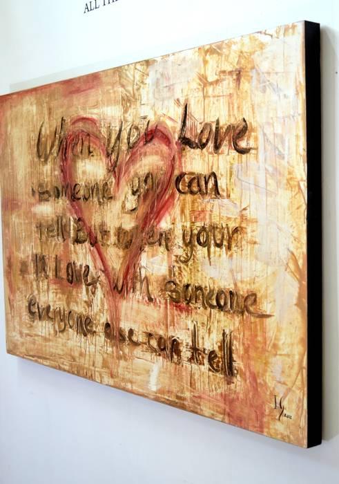 Love Can Tell Paredes y pisos de estilo rústico de Galeria Ivan Guaderrama Rústico Madera Acabado en madera