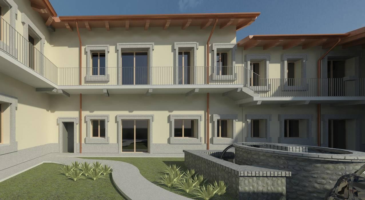 Piano di recupero : Case in stile in stile Mediterraneo di macioce -tamborini Architetti Associati