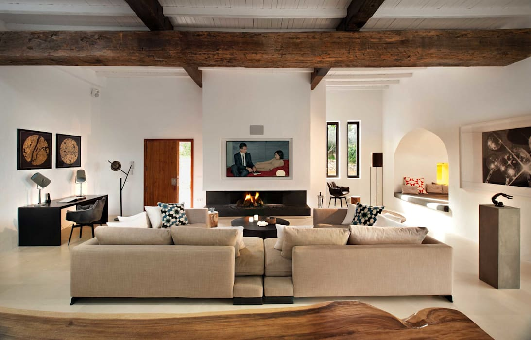 Living Room by TG Studio Mediterranean