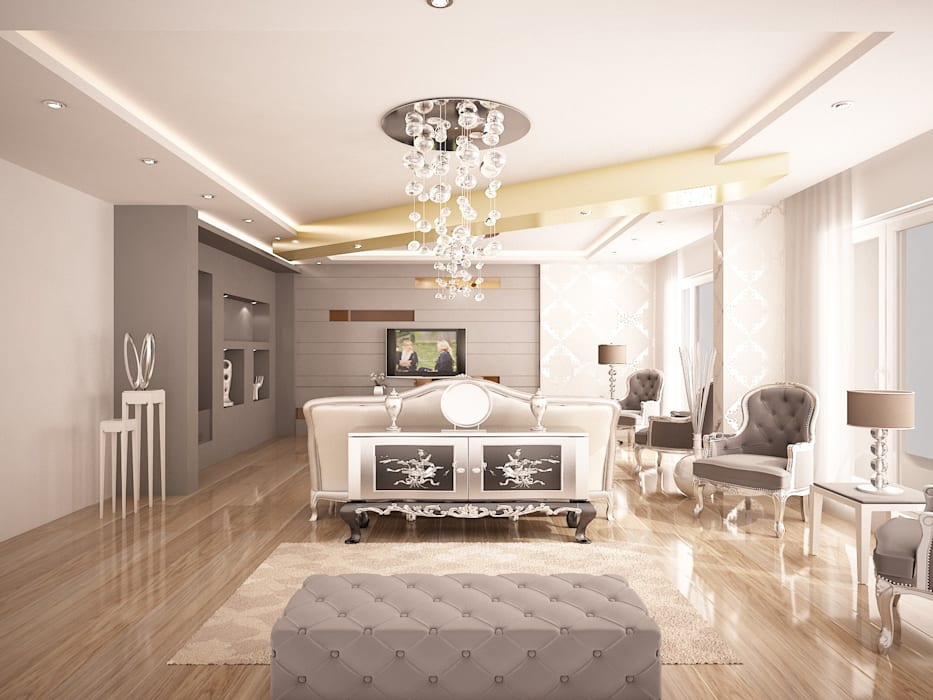 Sinar İç mimarlık – Salon:  tarz Oturma Odası, Klasik
