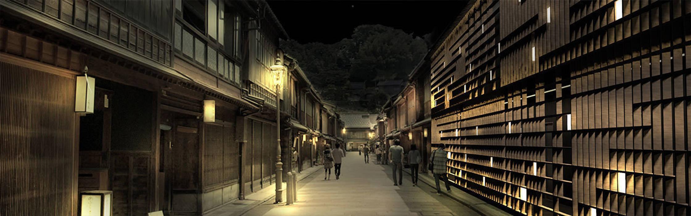 外観 日本家屋・アジアの家 の KAWAZOE-ARCHITECTS 和風