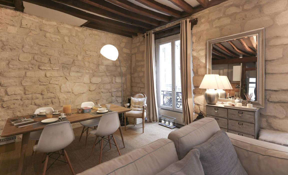 Décoration d'un appartement ancien Salon moderne par Xavier Lemoine Architecture d'Intérieur Moderne