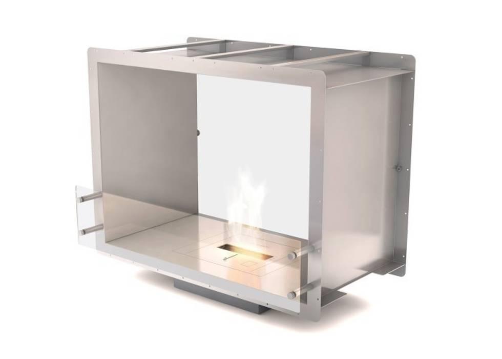 Eco Smart Fire 900DB dwustronny, elegancki wkład do zabudowy: styl , w kategorii Salon zaprojektowany przez ilumia.pl