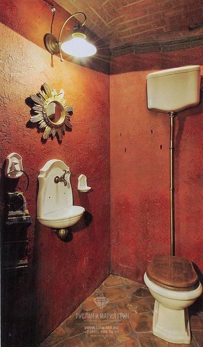 Интерьер санузла в доме из бруса Ванная в классическом стиле от Студия дизайна интерьера Руслана и Марии Грин Классический