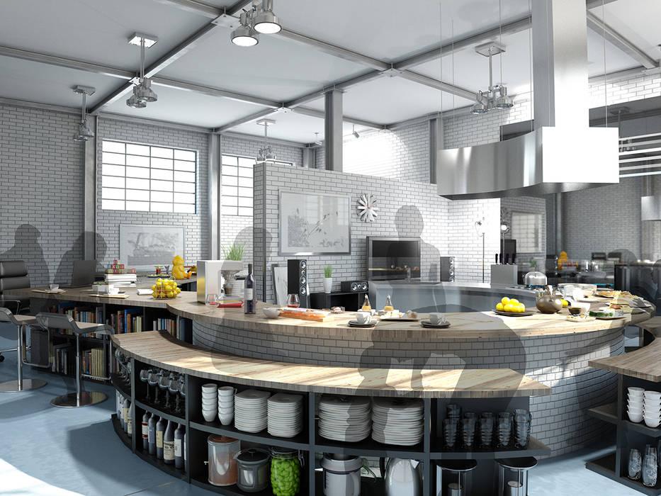 キッチンスペース1 モダンな キッチン の KAWAZOE-ARCHITECTS モダン