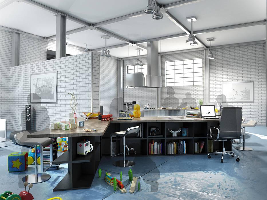 キッチンスペース2 モダンな キッチン の KAWAZOE-ARCHITECTS モダン