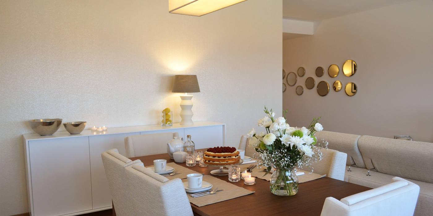 032 | Apartamento, Setúbal T2 Arquitectura & Interiores Salas de jantar ecléticas