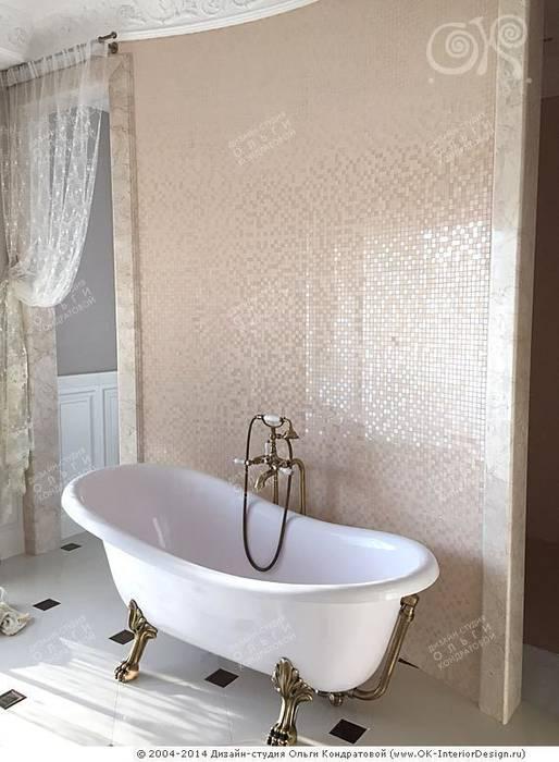 Интерьер ванной комнаты в дизайне дома : Ванные комнаты в . Автор – Дизайн студия Ольги Кондратовой