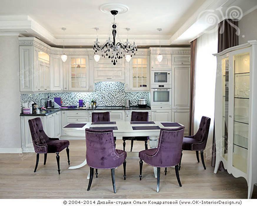 Кухня-столовая в квартире на Мытной: Столовые комнаты в . Автор – Дизайн студия Ольги Кондратовой