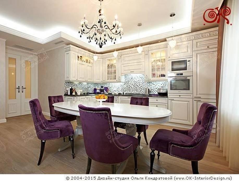 Кухня-столовая в дизайне квартиры на Мытной Столовая комната в классическом стиле от Дизайн студия Ольги Кондратовой Классический