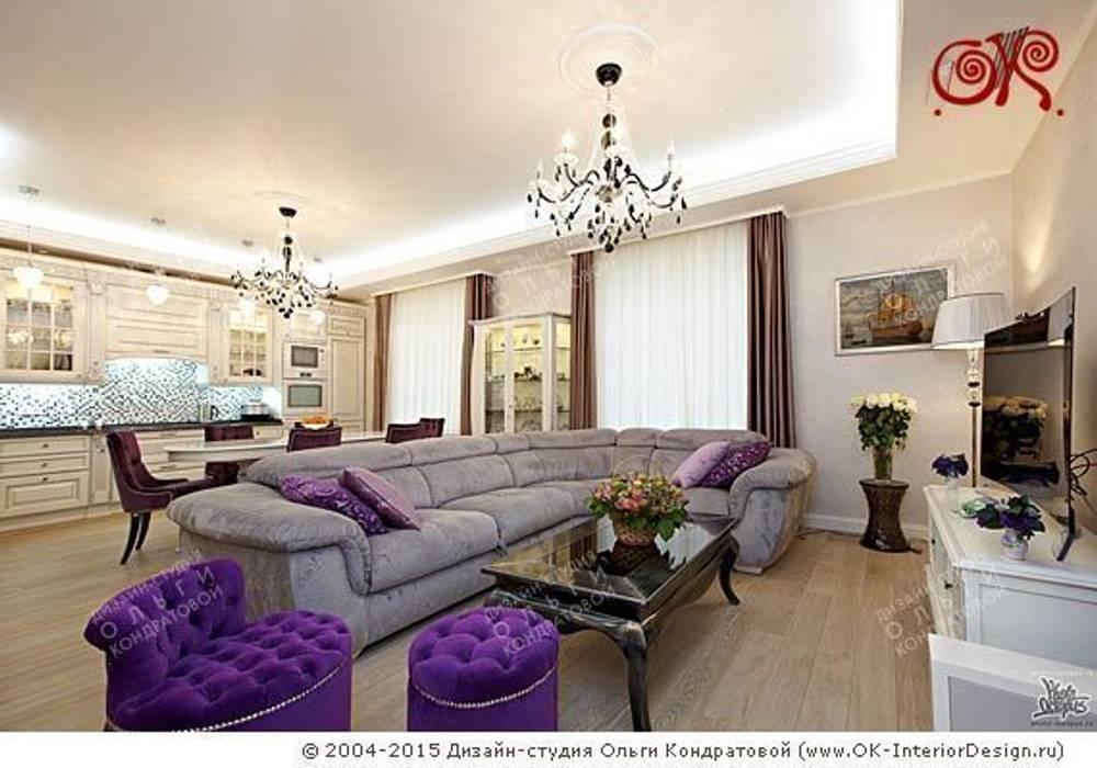 Интерьер гостиной в квартире на Мытной: Гостиная в . Автор – Дизайн студия Ольги Кондратовой