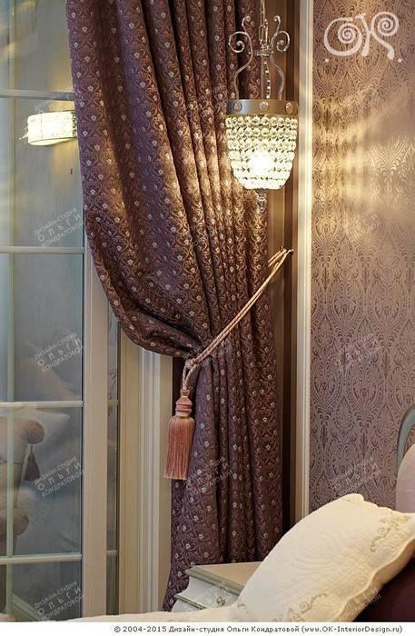 Текстильный декор в спальне на Мытной Балкон и терраса в классическом стиле от Дизайн студия Ольги Кондратовой Классический
