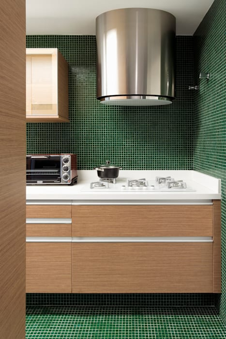 DIEGO REVOLLO ARQUITETURA S/S LTDA. 現代廚房設計點子、靈感&圖片