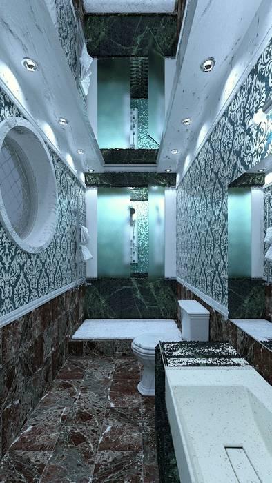 Престижный сан-узел: Ванные комнаты в . Автор – Nada-Design Студия дизайна.