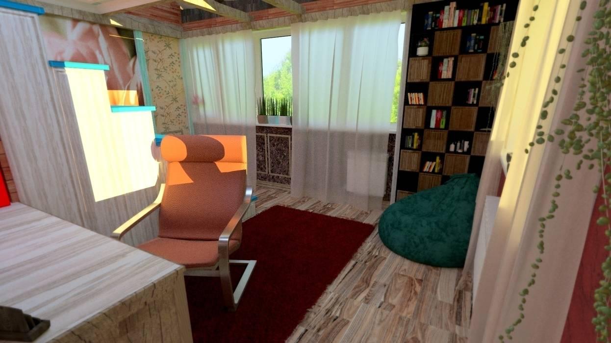 обратная сторона Детская комнатa в средиземноморском стиле от Nada-Design Студия дизайна. Средиземноморский