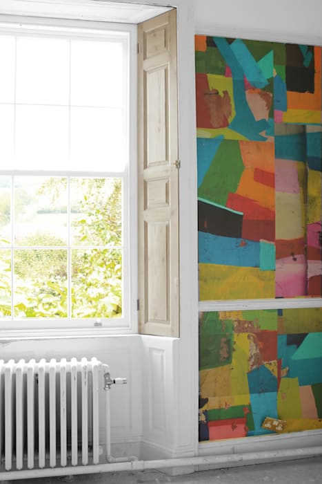 Painted Wall in Moscow WALLPAPER by deborah bowness Wände & BodenTapeten