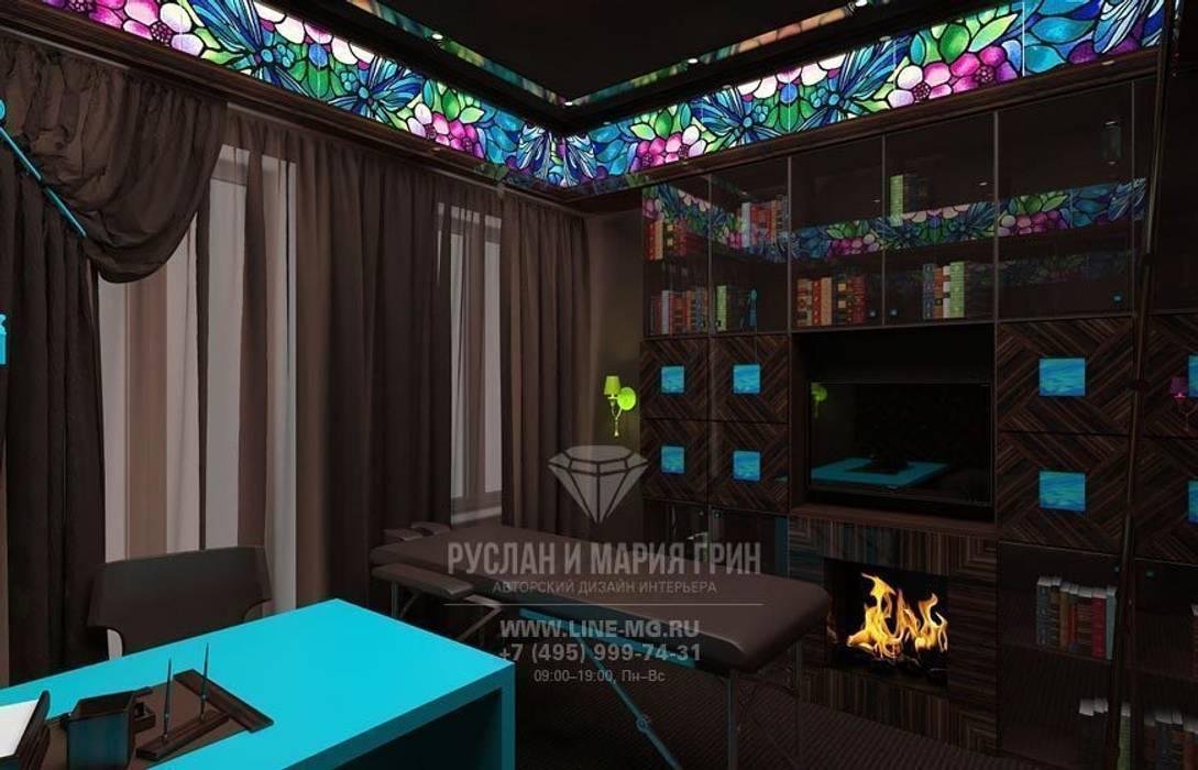 Дизайн кабинета в стиле арт-деко: Рабочие кабинеты в . Автор – Студия дизайна интерьера Руслана и Марии Грин, Эклектичный