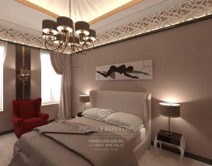 Интерьер спальни в современном стиле Спальня в эклектичном стиле от Студия дизайна интерьера Руслана и Марии Грин Эклектичный