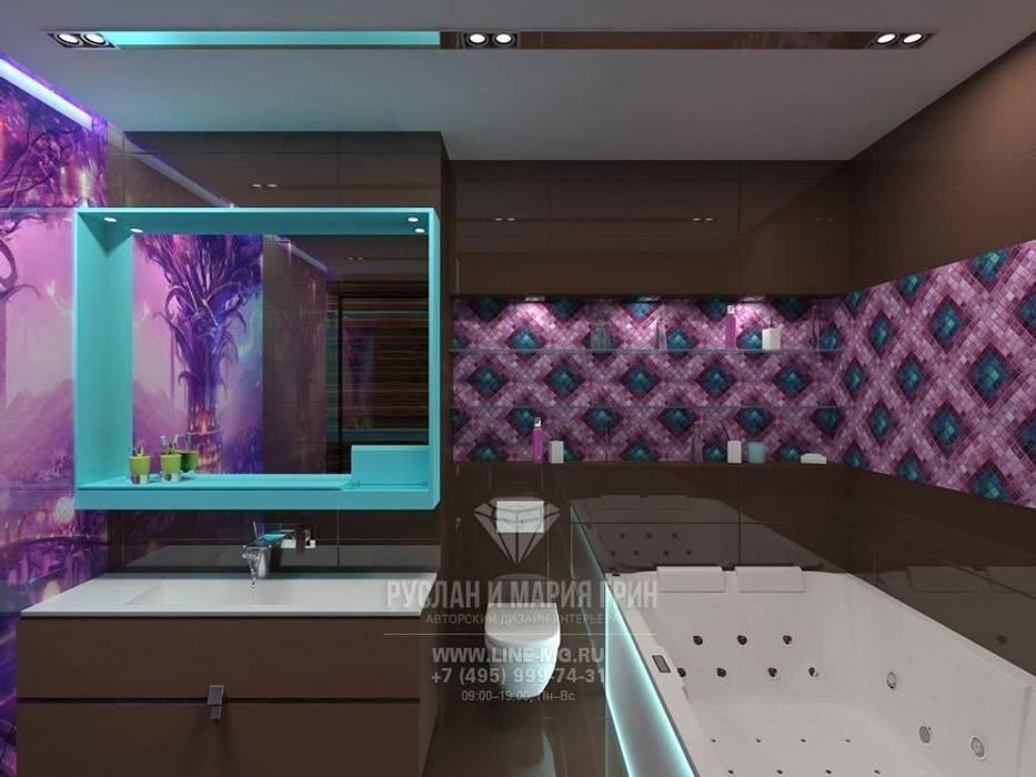 Интерьер ванной комнаты в стиле арт-деко Ванная комната в эклектичном стиле от Студия дизайна интерьера Руслана и Марии Грин Эклектичный