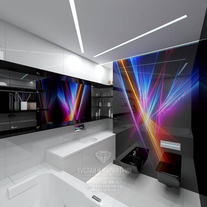 Интерьер ванной в футуристическом стиле Ванная комната в эклектичном стиле от Студия дизайна интерьера Руслана и Марии Грин Эклектичный