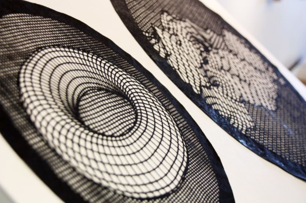 Correspondances 2: Salon de style de style Minimaliste par Lucie Leroux Design Textile