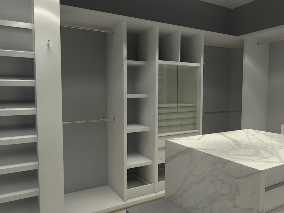 Modern dressing room by Arq. Jacobo Smeke Modern