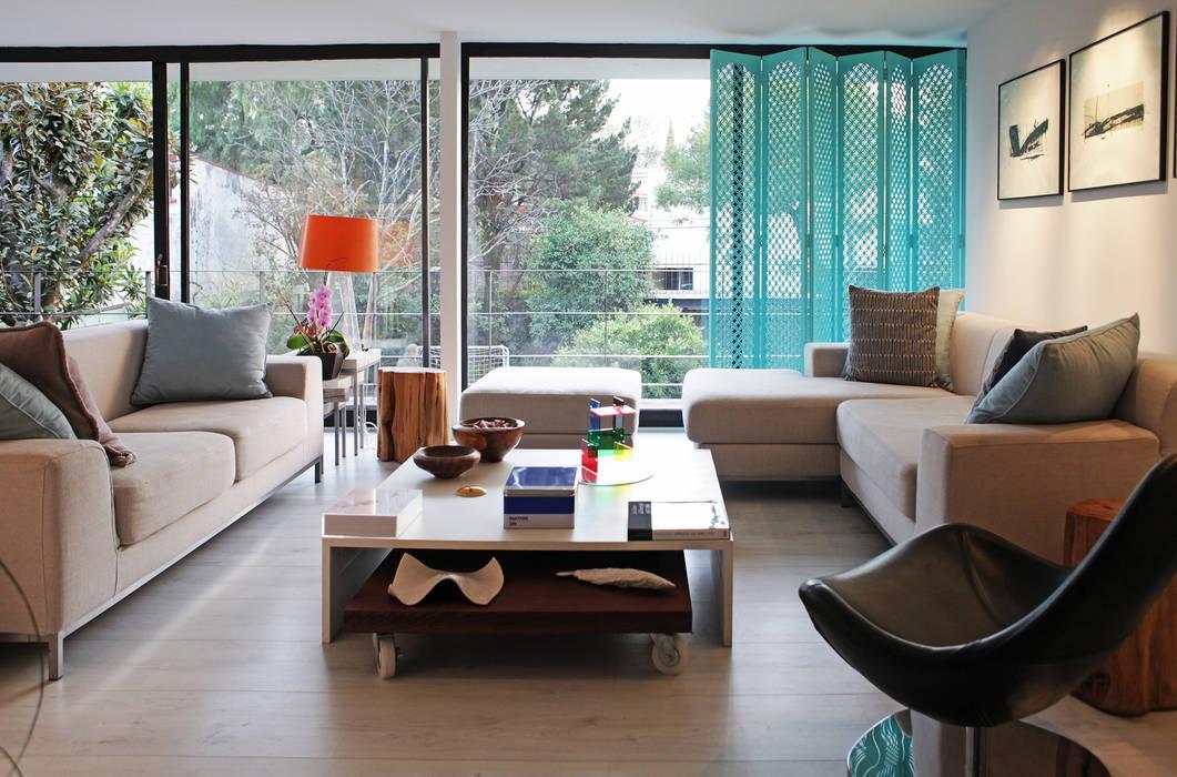 Salon moderne par DF ARQUITECTOS Moderne