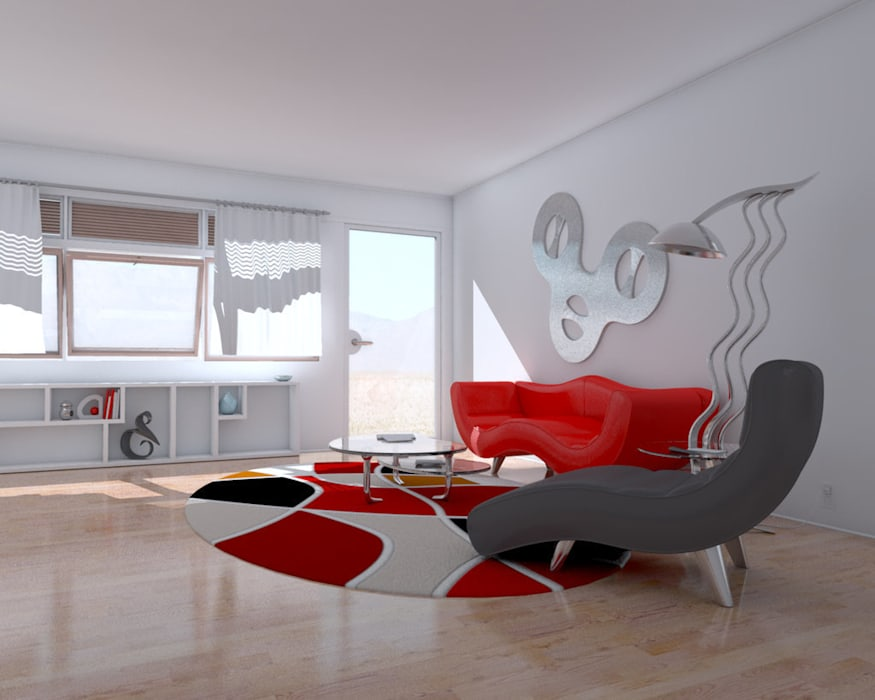 Modern Living Room by Dekorasyon Şirketi Modern